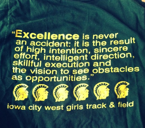 Even our team t-shirts were motivational.