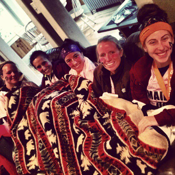 So does snuggling on the couch under a blanket after running 200 miles...