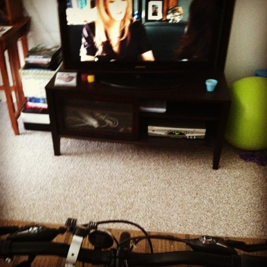 I have no problem biking for 2 hours when I can watch movies. Thank you cable.