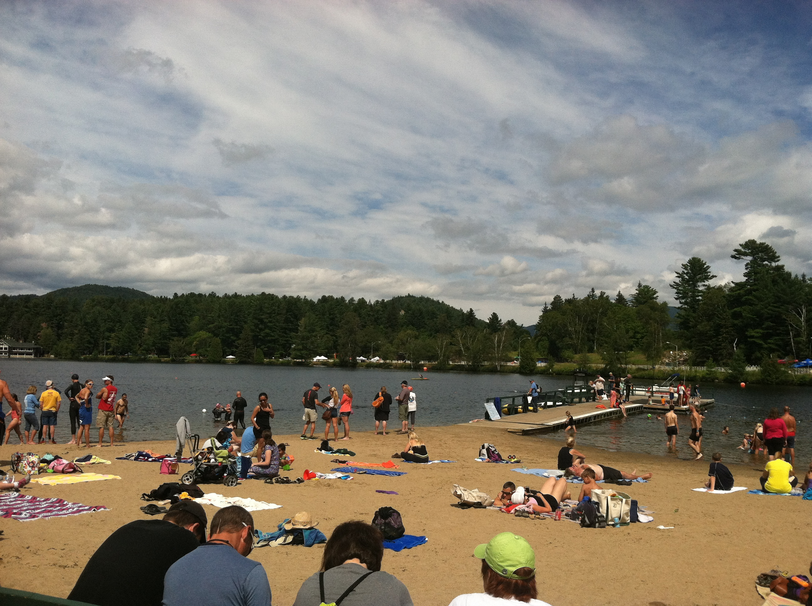 Practice swim in Mirror Lake - the most beautiful lake I've ever swum in!